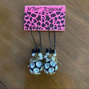 Betsey Johnson hanging ball earrings